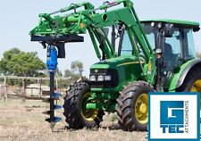 Front End Loader Post Hole Digger + Euro Hitch + 300mm Auger Tractor Package