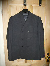 BRAND NEW! All saints double breasted wool blazer, 38, RRP £250, charcoal