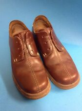 Pair Of Mens Clarks Size 8 UK Tan Brown Leather Shoes VGC Rubber Sole Comfy