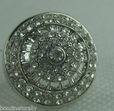 BRAND NEW WITH TAGS OROTON VINTAGE FLORAL CRYSTAL DRESS RING SIZE 6 SMALL RRP$85