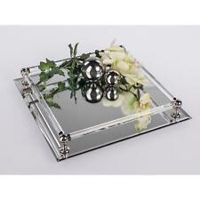 Tischspiegel, Spiegeltablett, Deko Spiegel, 30x30cm, rechteckig, Glas, Formano