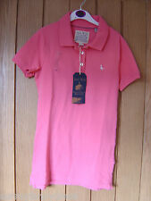 Jack Wills Stonebury Pink Polo Shirt Size 8 NEW (tags) Womens (Ref Z)