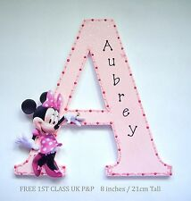 Minnie Mouse Girls Door Plaque Personalised Wall Letter