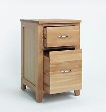 Sherwood Oak Two Drawer Filing Cabinet / Cupboard / Light Oak Office Storage