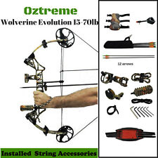 NEW RIGHT HAND 15-70LB COMPOUND BOW AND ARROW  HUNTING TARGET ARCHERY US LIMBS