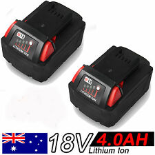 2x 4.0Ah 18V Red Lithium Ion XC 4.0 Battery For Milwaukee M18 M18B4 48-11-1828