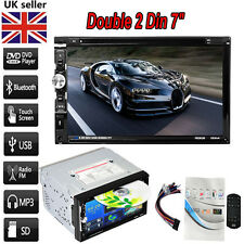 Double 2 Din 7Inch Dash Stereo Car DVD CD Player Bluetooth FM Radio SD/USB UK