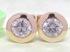 Brillant Ohrstecker 585 Gelbgold 14Kt Gold Brillanten 0,97ct Solitär Wesselton