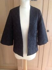 GREAT H&M CONSCIOUS COLLECTION BLACK FLORAL PATTERN JACKET UK SIZE 8 WORN BARELY