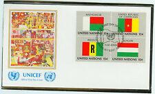 Vereine Nationen FDC Ersttagsbrief 1980 Flaggen Mi.-Nr.360-63