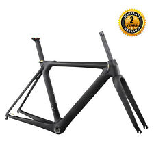 ICAN 700C Carbon Aero Road Bike Frameset 58cm Matt Adjustable Seatpost + Fork