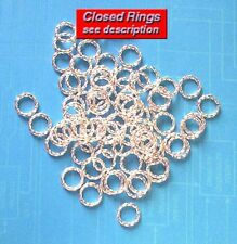 500 SP 8mm closed twisted jump rings, findings for jewellery making crafts