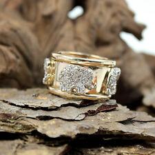 Breiter Bandring 750er Gelbgold mit vier Elefanten und Diamanten, beweglich
