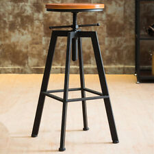 2 X VINTAGE RETRO INDUSTRIAL LOOK RUSTIC SWIVEL KITCHEN BAR STOOL CAFE CHAIR