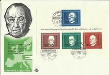 Ersttagsbrief  Block 4 - 1.Todestag K. Adenauer -