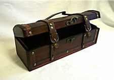 Wooden Treasure Chest/Trinket Box - Jewellery Box - Long Narrow Plain Design