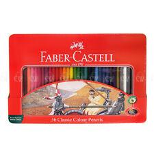 Faber Castell Classic Colour Pencil TIN SET of 36 Colouring Pencils