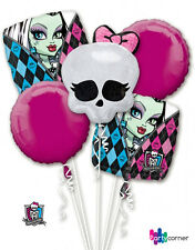 MONSTER HIGH PARTY SUPPLIES 5 FOIL BALLOON BOUQUET HELIUM GENUINE LICENSED