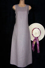 BNWT Laura Ashley vintage lavender pink rose 100% linen maxi pinafore/dress 18UK