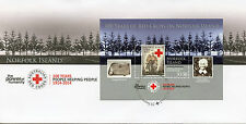 Norfolk Island 2014 FDC Australian Red Cross 100 Yrs 1v S/S Cover Medical Stamps