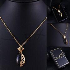 Kette Halskette *Verzierte Ellipse*, Gelbgold plattiert, inkl. Etui *sehr edel*