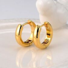 12 mm, 18k Gold Filled Unisex Huggies Hoop Solid Earrings