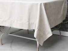 sehr große Tischdecke Landhaus beige Tafeltuch Shabby 140x340 Cottage Leinenlook