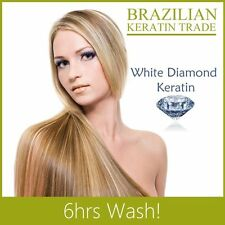 WHITE DIAMOND BRAZILIAN BLOW DRY HAIR STRAIGHTENING KERATIN TREATMENT KIT 100ML
