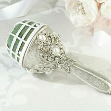 Lillian Rose Bridal Vintage Silver Jewelled BOUQUET HOLDER for Wedding Flowers