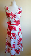 Size 10  Dress Red White Floral NEW LOOK 0916
