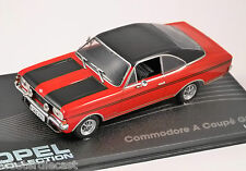 1970 - 71 OPEL COMMODORE A COUPE GS/E in Red / Black 1/43 scale model ALTAYA