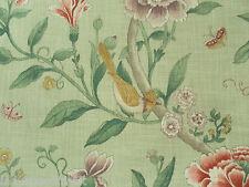 Sanderson Curtain Fabric PORCELAIN GARDEN 1.0m Rose/Fennel Floral 100cm