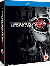 The Terminator Quadrilogy 1 2 3 & 4 Complete Box Set Collection | New | Blu-ray