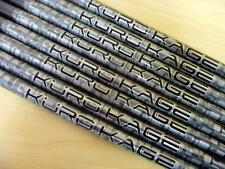 8 New Mitsubishi Kuro Kage Black 80 Iron/Hybrid Stiff Flex Graphite Shafts 370