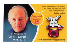 Wear A Hat Day Rabbit in a Hat Badge - In memory of Paul Daniels