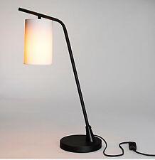 Tischlampe Tischleuchte Lampe Metall schwarz  Schirm Weiß Retro Skandinavisch