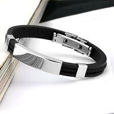 2015 Arrival Black Bracelet & Bangles Cuff Stainless Steel Jewelry For Man Cool