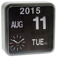 Karlsson Groß Kippen Retro Wanduhr Weiß Kalender Stilvoll Designer Uhr