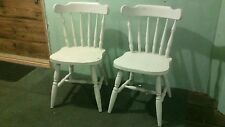 Pine dining chairs x2 vintage farmhouse chic painted solid pine