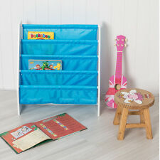 Children's Sling Bookcase in Blue - Book Storage Children's Room Playroom