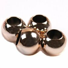 175pcs New Rose Gold Round Smooth European Charms Acrylic Bead Fit Bracelets BS
