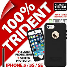 Trident Aegis Protective Case Cover+Screen Protector for Apple iPhone 5 / 5S /SE