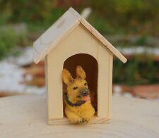 Hundehütte Miniatur  1:12  Zubehör Puppenstube Puppenhaus Diorama