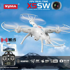 Syma X5SW WIFI FPV 2.4Ghz 4CH 6-Axis RC Quadcopter Drone 2MP Camera HD White RTF