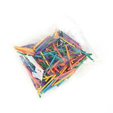 PACK 300PCS WOODEN COLOURED MATCH STICKS 42mm IDEAL FOR KID ART CRAFT PROJECT