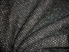 0,5 Lfm Wollstoff 4,99€/m² Strickstoff, schwarz meliert, reine Wolle, KC2