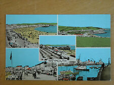 OLD COLOUR TINTED MULTI-VIEW POSTCARD OF WEYMOUTH