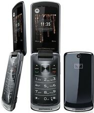 New Motorola Gleam Black Flip Big Button Unlocked Bluetooth Mobile Phone
