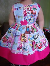 """Doll Clothes-Handmade-American Girl Dolls-Fits18""""-Shopkins and Pink Dress."""