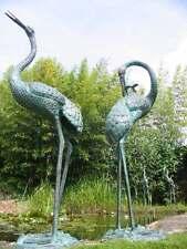Bronzeskulptur, Fischreiher, Dekoration für ihren Garten